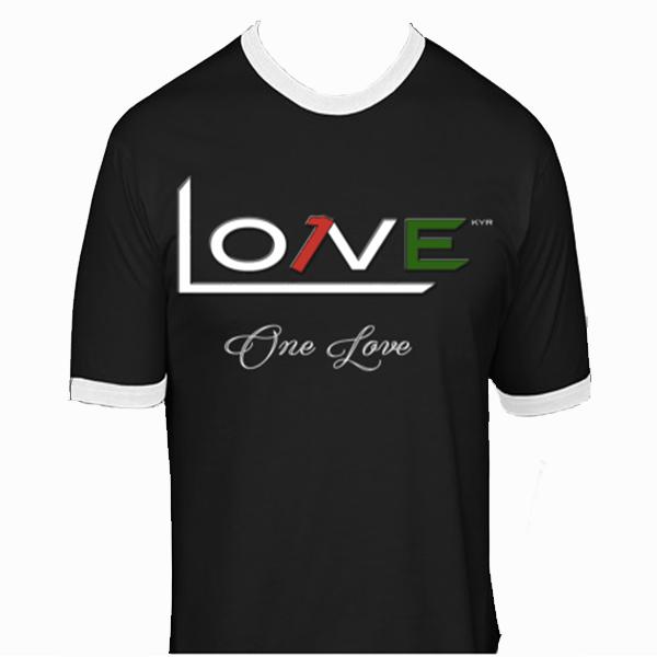 "Image of ""One Love"" Ringer T-Shirt"