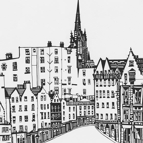 Image of Victoria Street (from the Grassmarket)