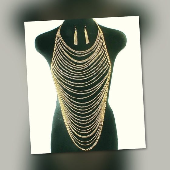 Image of Gold Body Chain #2