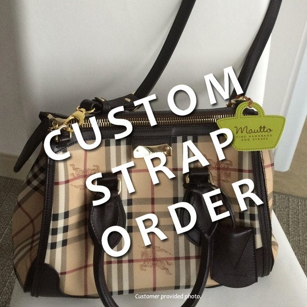 Image of Custom Replacement Straps & Handles for Burberry Handbags/Purses/Bags