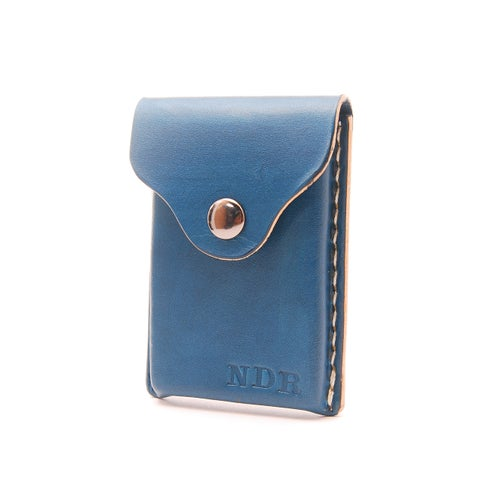 Image of Leather Business Card Holder Personalized