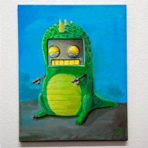 Robot in a dino suit  - Matt Q. Spangler Illustration