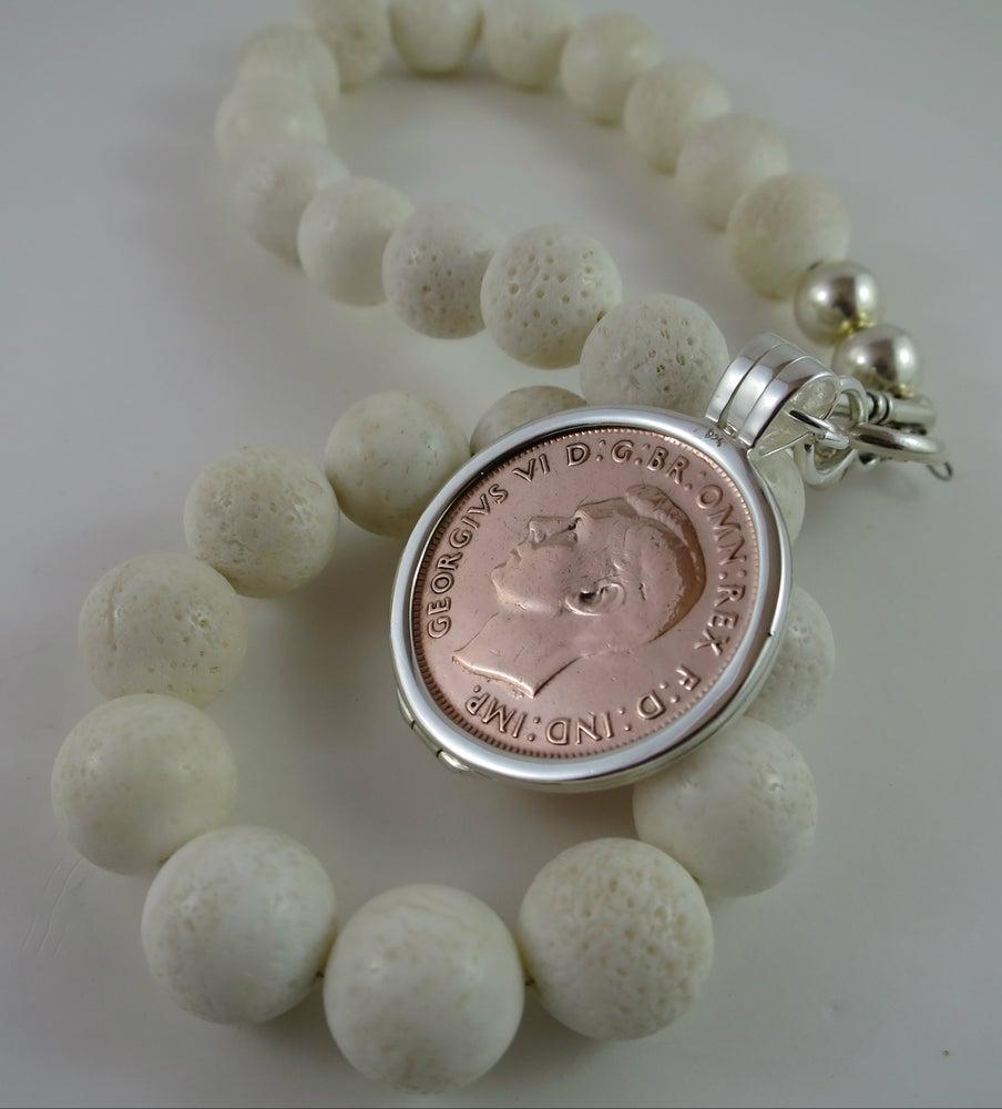 Image of N018-Sarago Black Lava Necklace