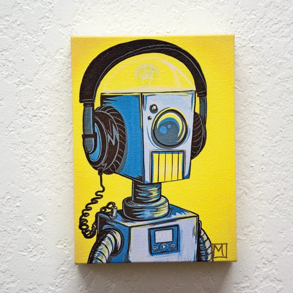Rockin' Out Print - Robot Art by Matt Q. Spangler