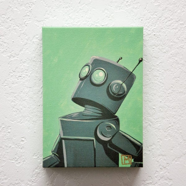Ready, Set Fly Print - Robot Art by Matt Q. Spangler