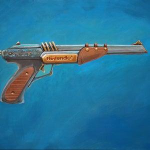 The Zapper painting - Matt Q. Spangler Illustration
