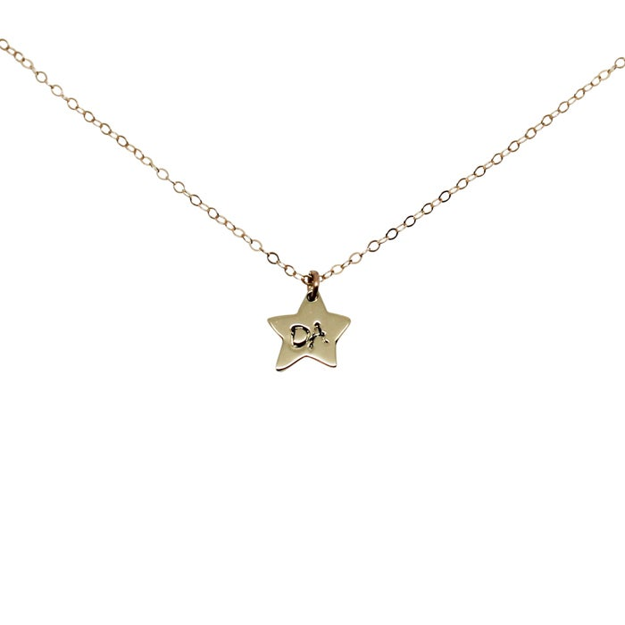 Image of Personalised 9ct Gold Little Star Charms Necklace