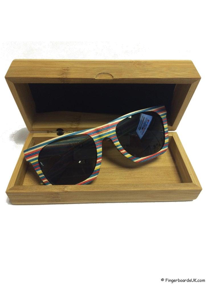 Image of FBUK Skateboard Deck Wooden Rainbow Sunglasses