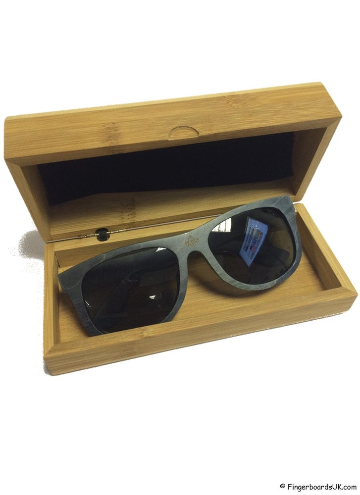 Image of FBUK Skateboard Deck Wooden Black Sunglasses