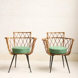 Image of 1950's Bamboo Chairs (pair)
