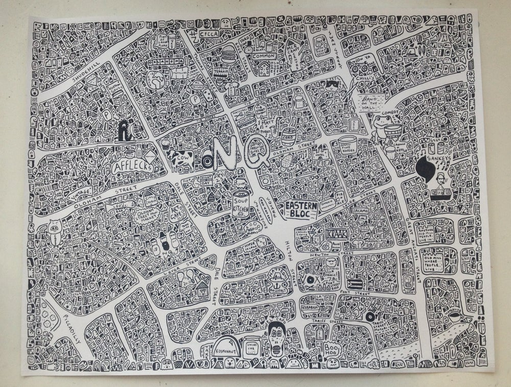 Image of Northern Quarter Doodle Map