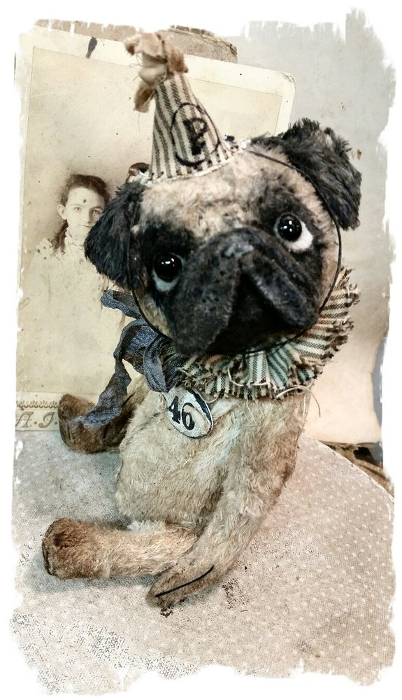 "Image of Pug - Dog - 7"" size * By Whendi's Bears"