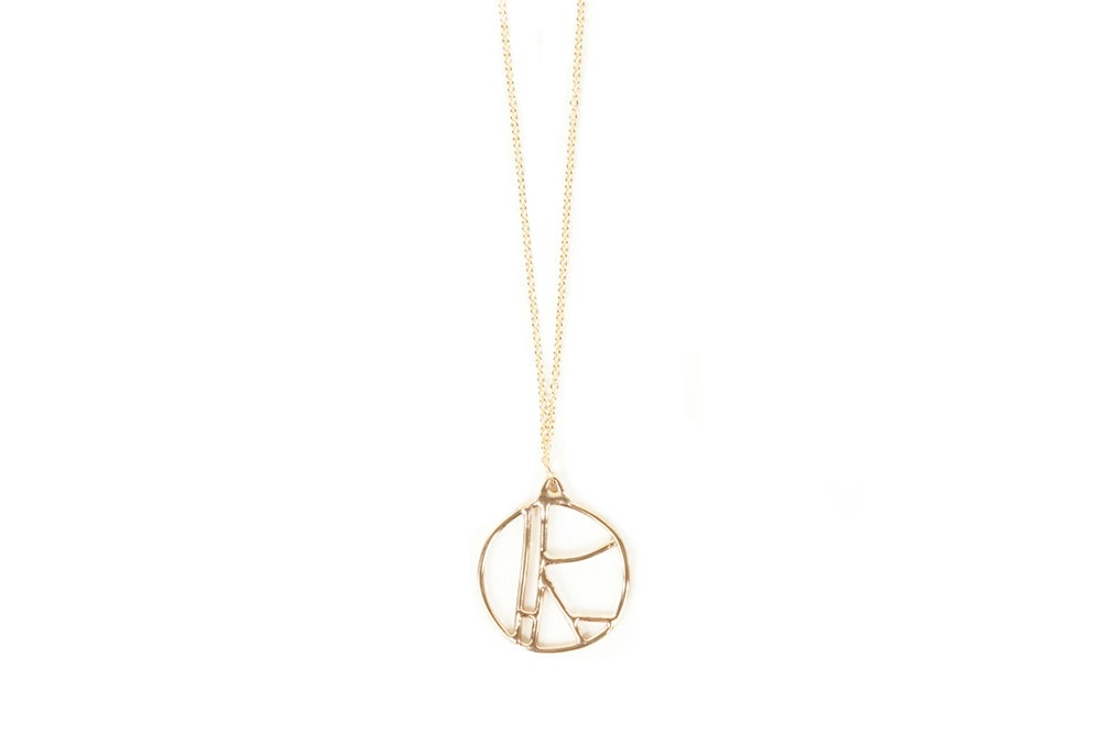 Image of Composition Necklace - Circle