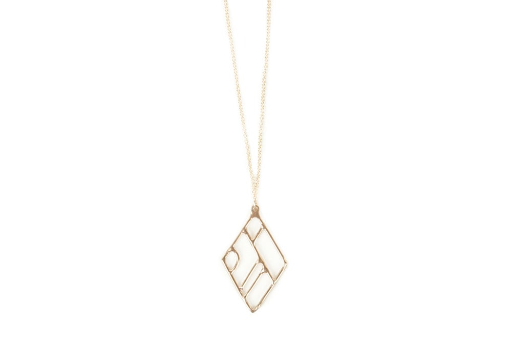 Image of Composition Necklace - Diamond