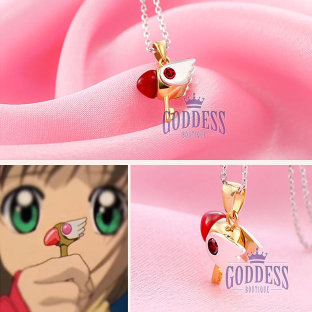 Image of Gold Plated Card Captor Sakura Pendant Necklace