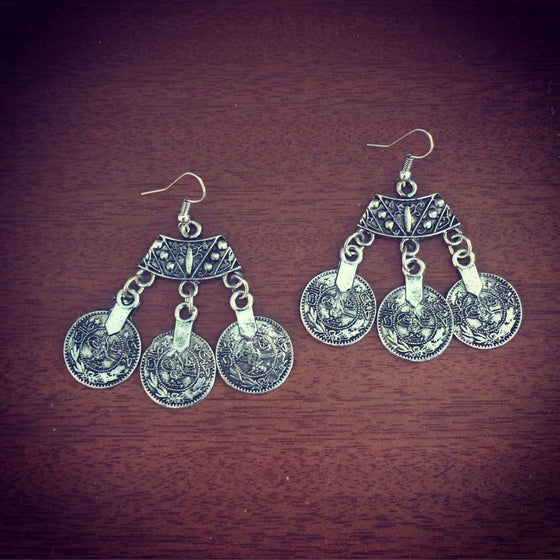 Image of Gypsy coin earrings