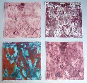 Image of Valentine Heart Collograph Set