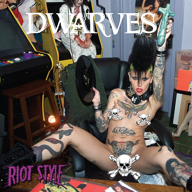 "Image of The Dwarves - Radio Free Dwarves 12"" LP Deluxe Banned Edition (Clear/Purple)"