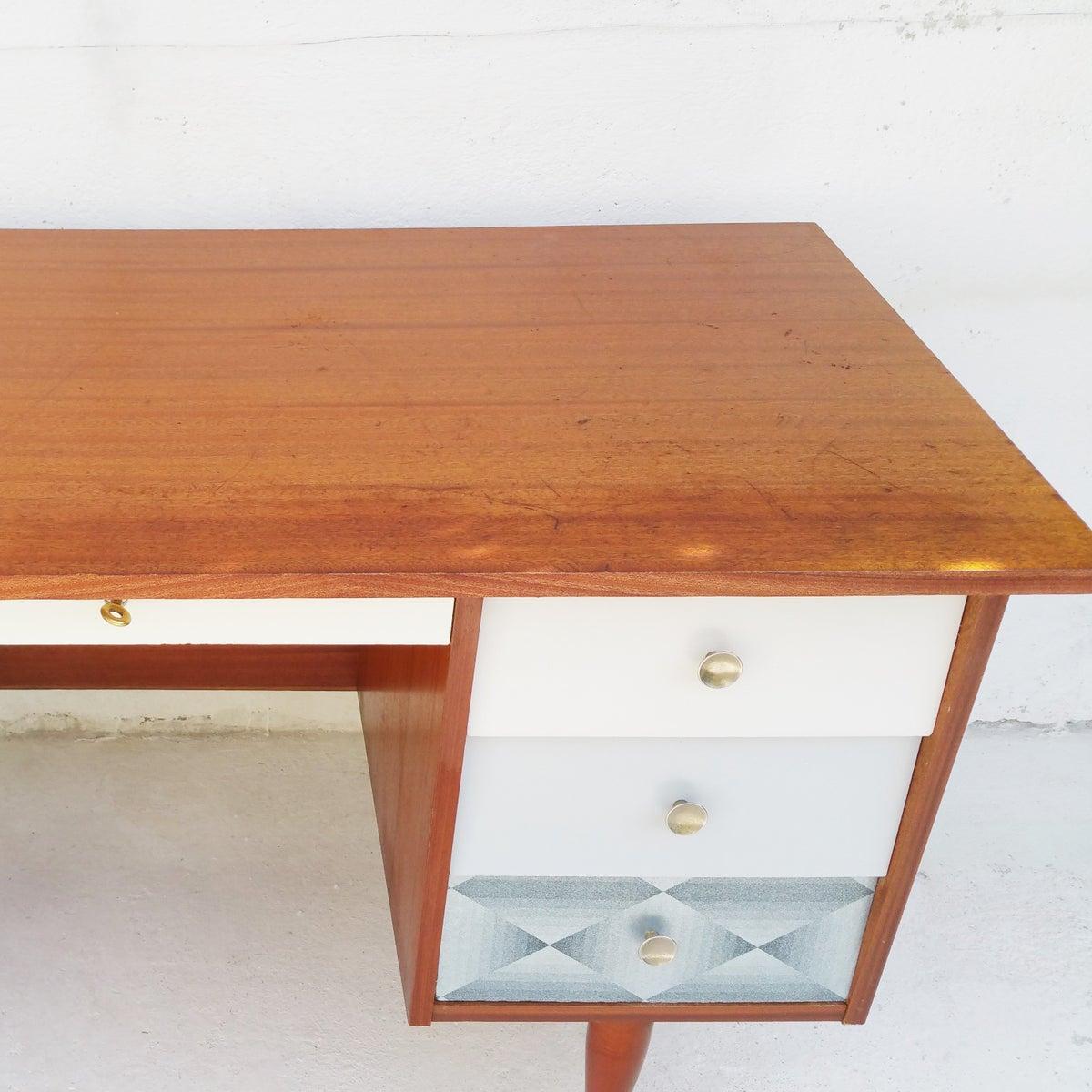 bureau customis style scandinave fibresendeco vannerie artisanale mobilier vintage. Black Bedroom Furniture Sets. Home Design Ideas