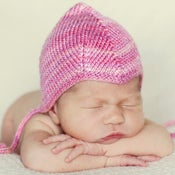 Image of CUSTOM ORDER: newborn silk pilot cap in PETAL PINK