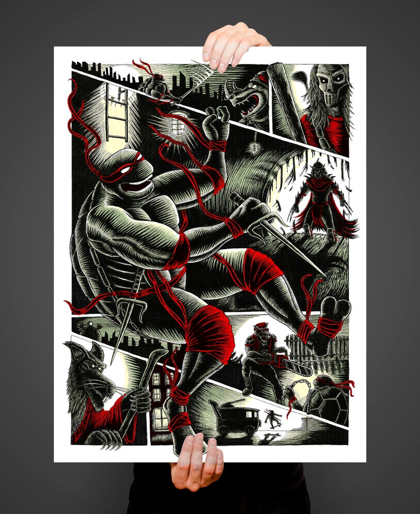 Image of Beneath Streets and Between Frames 18x24 screen printed poster