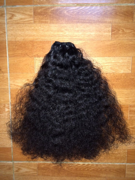 Image of 3pcs Elite Burmese tight steam curly ,afro & Natural wavy the highest quality
