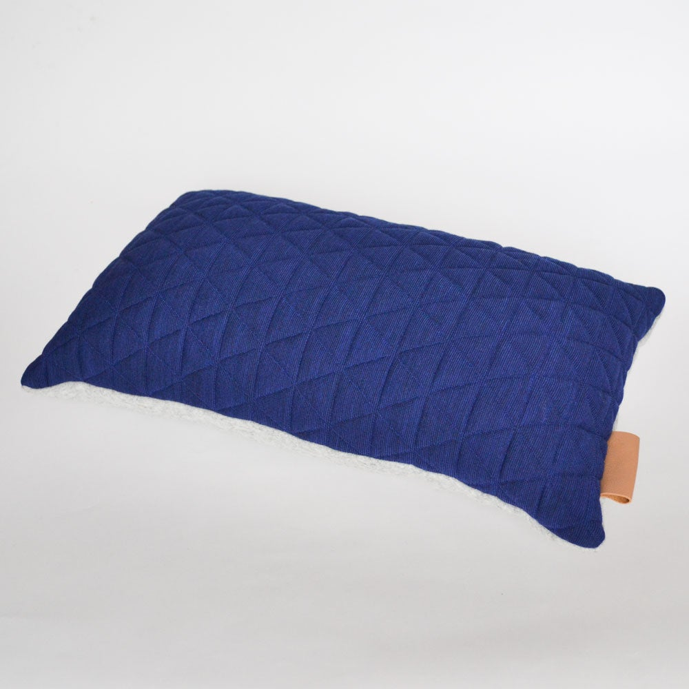 Image of Kumo Cushion Cover - Sapphire Blue Rectangular