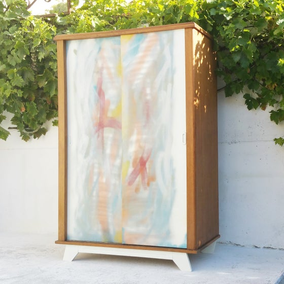"Image of Armoire penderie ""Impression "" - Vintage"