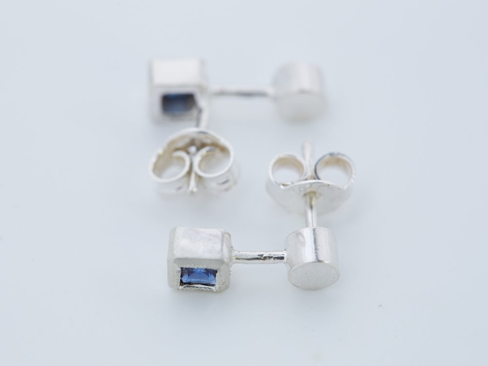 Image of Circle Line Square Studs