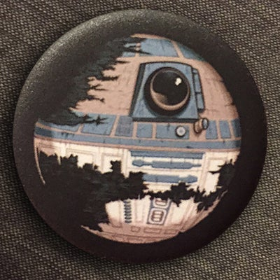 """Image of DeathstaR2-D2 - 1.25"""" Pin-back Buttons (available in matte and gloss finish)"""