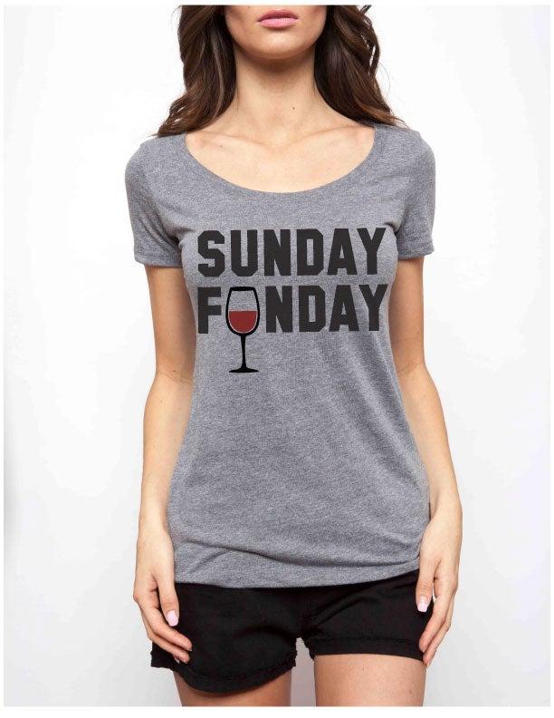 Image of SUNDAY FUNDAY scoopneck