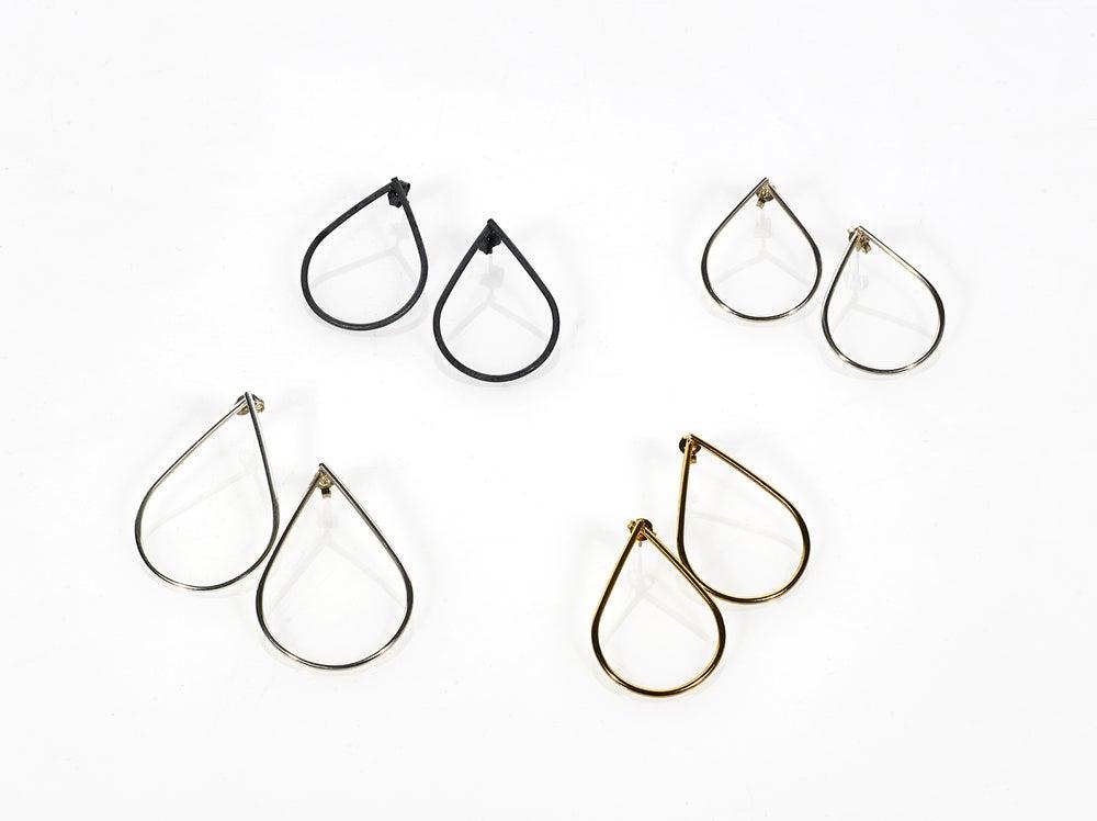 Image of Silver Teardrop Stud Earrings