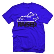 "Image of KY Raised ""Limited Edition"" State Tee in KY Blue / White / Black"