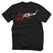 "Image of KY Raised ""Limited Edition Script Tee"" in Black / Red / White"