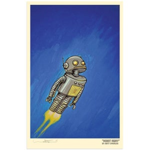 Robot Away! Print - Matt Q. Spangler Illustration