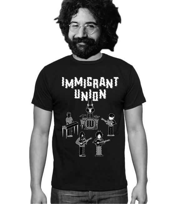 Image of Immigrant Union Cartoon T-Shirt - Black