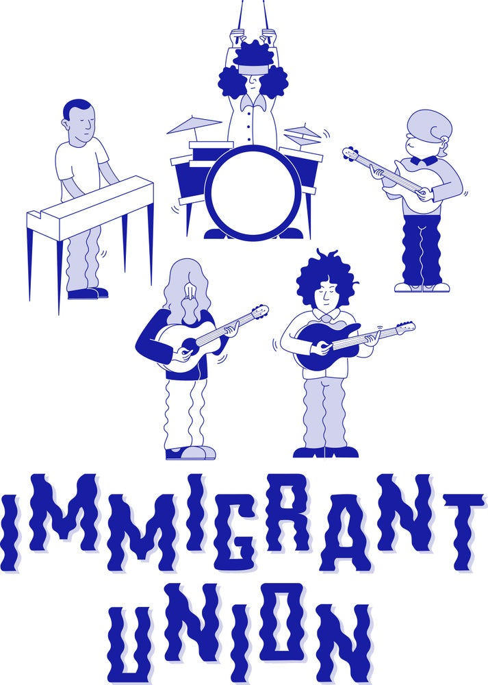 Image of Immigrant Union Cartoon T-Shirt - White