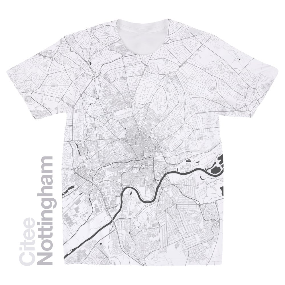 Image of Nottingham map t-shirt