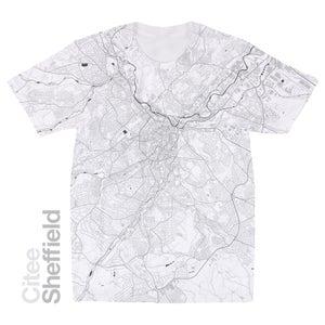 Image of Sheffield map t-shirt