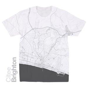 Image of Brighton map t-shirt