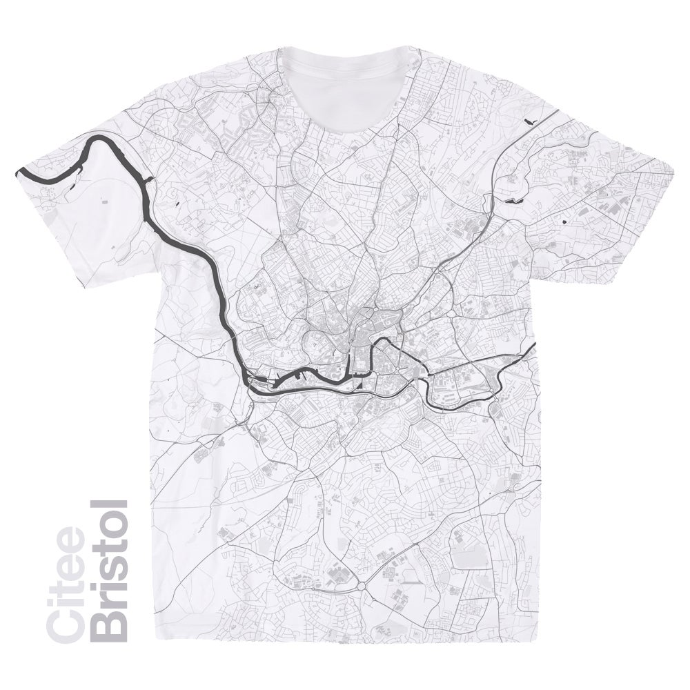 Image of Bristol map t-shirt