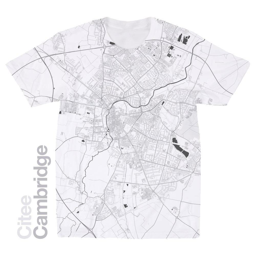 Image of Cambridge map t-shirt