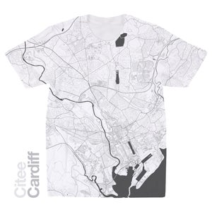 Image of Cardiff map t-shirt