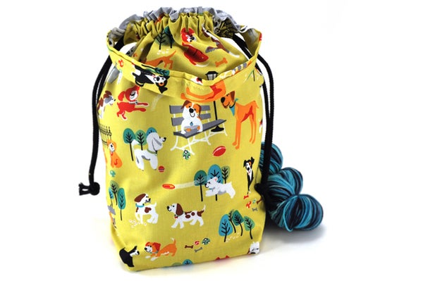 Image of Medium Knitting Crochet Project Bag - Dog Park