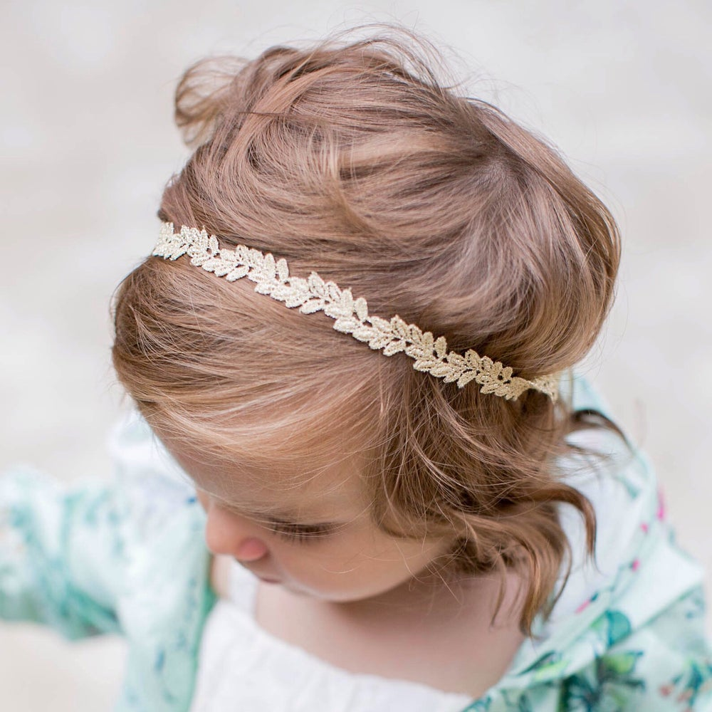 Image of Isla Gold Lace Headband