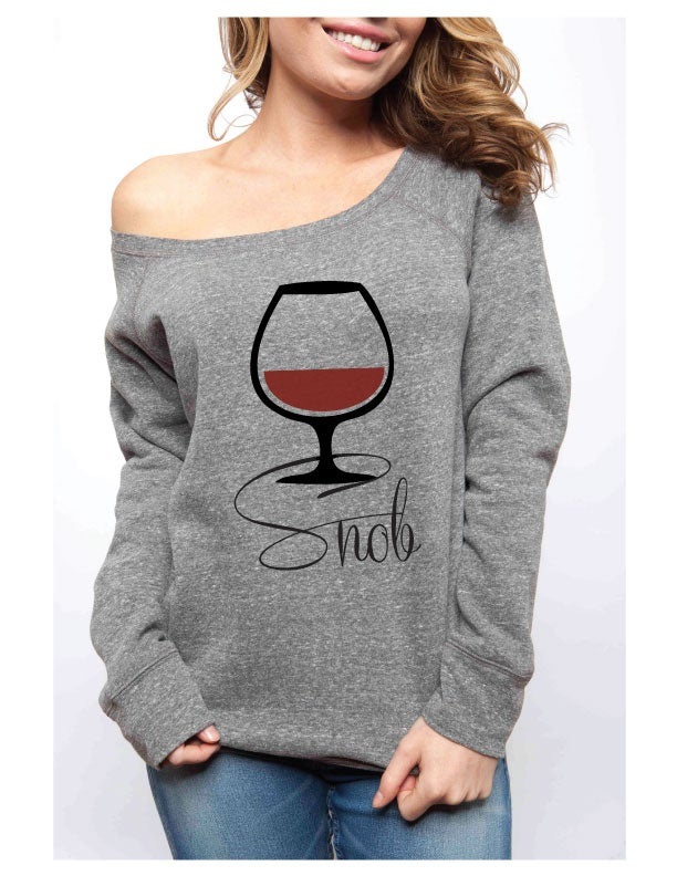 Image of WINE SNOB Sponge Fleece