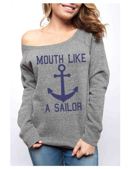 Image of MOUTH LIKE A SAILOR Sponge Fleece