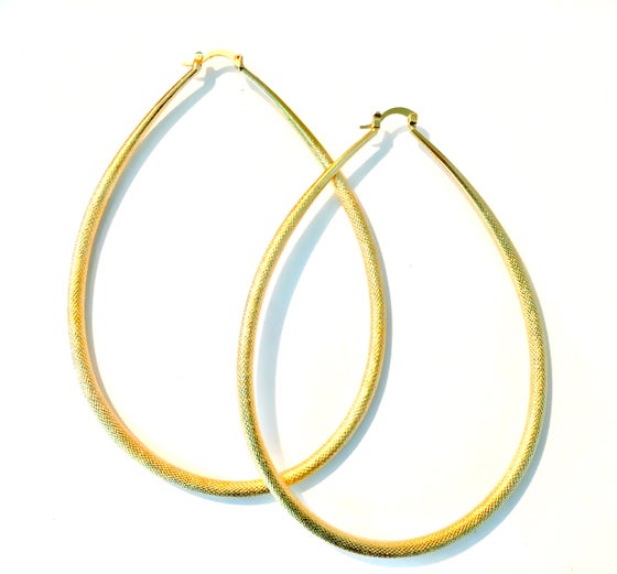 Image of Textured Oval hoops