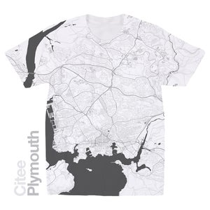 Image of Plymouth map t-shirt