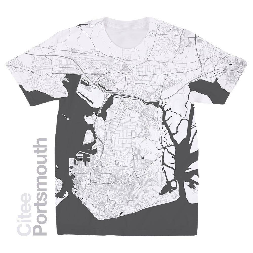 Image of Portsmouth map t-shirt
